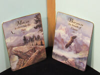 """Vintage Franklin Mint """"On Eagles Wings"""" By Ted Blaylock Rectangle Wall Plaques"""