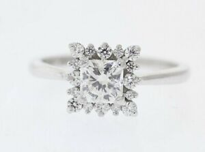 HEARTS ON FIRE Platinum AGS Cert .95ct Dream Cut Diamond Halo Engagement Ring