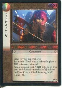 Lord Of The Rings CCG Foil Card TTT 4.R52 My Axe Is Notched