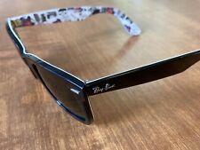 RAY BAN WAYFARER Sunglasses RB 2140 1114  Black outside London art Inside Ltd Ed