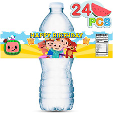 New ListingTekitsfun 24Pcs Water Bottle Labels for Coco-Melon Birthday Party Supplies, Coco