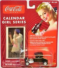 JOHNNY LIGHTNING COCA COLA CALENDAR GIRL '20s FORD T-BUCKET WHITE LIGHTNING