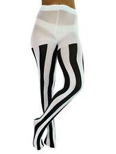 e671dd258 Luxury Divas Black & White Vertical Stripe Opaque Tights