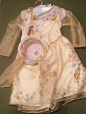 DISNEY CINDERELLA ELLA'S WEDDING DRESS SET COSTUME DRESS UP SZ S (4 - 6 ) BNWT