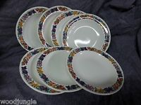 7 RARE Vintage WEDGWOOD ENGLAND HEREFORD LUNCHEON or SALAD PLATES FRUITS GRAPES