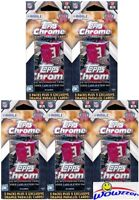 (5) 2015 Topps Chrome Football EXCLUSIVE Sealed Hanger Box-15 Packs+25 PARALLELS