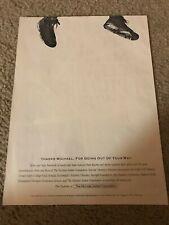 Vintage 1991 MICHAEL JORDAN FOUNDATION Poster Print Ad w/ NIKE AIR JORDAN VI 6
