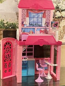 Barbie Glam Vacation House With Furniture, Accessories,  used