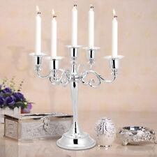 Metal Candelabra Candlestick Holder 5 Arm Wedding Dinner Candle Stick Lighting