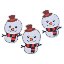 Cute DIY Christmas Jumper Decoration Snowman Iron on / Sew on patch / Applique