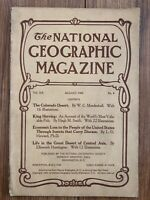 1909-08 AUGUST NATIONAL GEOGRAPHIC: COLORADO DESERT CALIFORNIA-KURDS n TURKEMANS