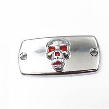 Chrome Red Skull Front Brake Fluid Cap Motorcycle For Honda VTX1300CVTX1800C C1