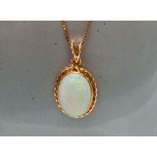 Pendentif ancien Mineralife en or jaune et opale arlequin