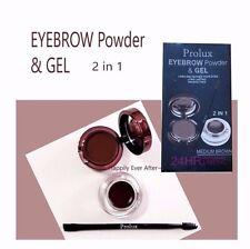 Prolux Waterproof Eyebrow Powder & Gel, Long Lasting, Smudge Free- M. Brown