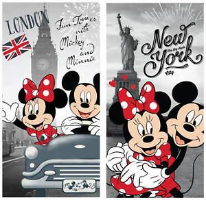 Disney´s Minnie & Mickey Mouse in London & New York 2 Badetücher 70x140 Handtuch