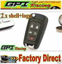 2 x 5Button Flip Key Shell for chevy Remote Key Case Camaro/Cruze/Equinox/Malibu