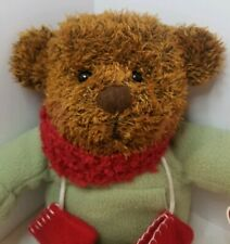 Hallmark Teddy Mittens Bear Plush Stuffed with Scarf Christmas Winter Collectors