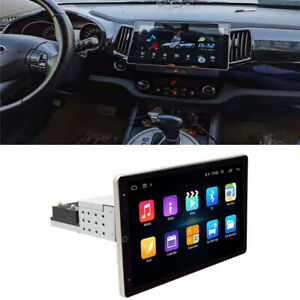 10 inch Android 9.1 Car Stereo Radio 1 Din Rotatable Screen GPS Navi Universal