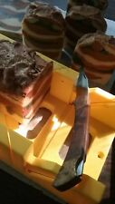 """""""Leather 'N' Dirt"""" Great Earthy Scent! 3 Butter, Goat Milk Handmade Soap I comb."""