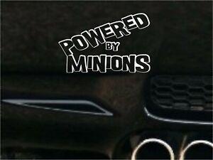 POWERED BY MINIONS CAR STICKER FUNNY DRIFT JDM WALL ART DECAL