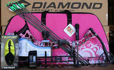 2019 Diamond Bowtech Infinite Edge Pro Pink LH Camo Girls Case Bow Upgraded Pkg