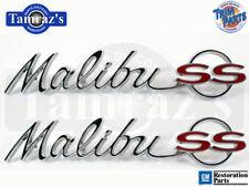 "1964 64 "" Malibu SS ""  Quarter Panel Emblem Script Pair Made in USA New"