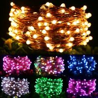 USB Twinkle LED String Fairy Lights 5/10M 50/100LED Copper Wire Party Xmas Decor