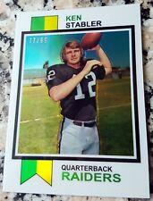 KEN STABLER 2012 Topps Chrome Reprint GOLD Refractor SP 1973 Rookie Card RC /99