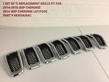 Replacement Grilles Fit For Jeep Cherokee Chrome Black 2014-2015-2016-2017-2018