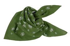 Trachtentuch Halstuch Nickituch Trachtenhalstuch Damen Herren Edelweiß Grün