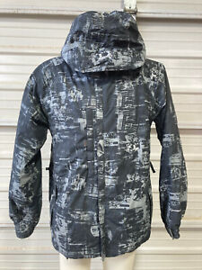 686 Snowboard Jacket - Mens Small - Manual Lowrider - Skeletons Black Grey