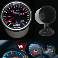 "Pointer 2"" 52mm Car Smoke Len LED Water Temp Temperature Gauge + Pod Holder"