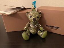 burberry thomas bear keychain Green Leather NEW Logo 2020 In Box