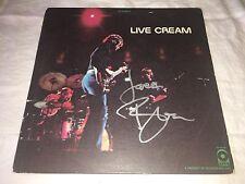 Jack Bruce SIGNED Live Cream  LP Album Eric Clapton Ginger Baker PROOF