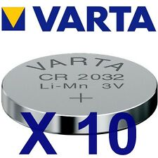 Lot de 10 piles CR2032 VARTA Lithium 3 Volts 230 mah neuves