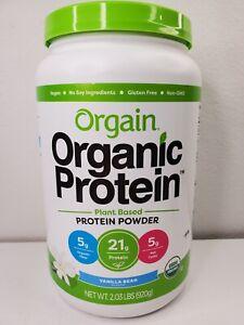 Orgain Organic Protein Plant Based Powder Vanilla Bean 2.03 lbs Exp. 10/2022