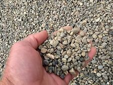 24 Pounds of Grey/Blue  Pea Gravel Rock from Engine 109 The Bulk Depot