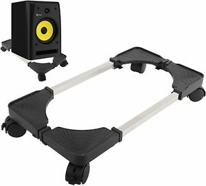 Mobile CPU Stand Adjustable Computer Tower Stand with 4 Caster Wheels Fit MostPC