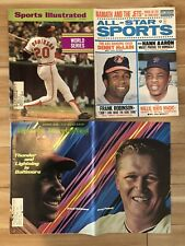 1969 Sports Illustrated BALTIMORE ORIOLES Lot 3 FRANK ROBINSON Boog Willie MAYS