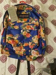 Jansport floral backpack NWT