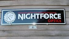 "NEW! NIGHTFORCE OPTICS CURRENT STYLE DEALER SIGN/AD 1'X46"" ALUM. PANEL W/LOGO"