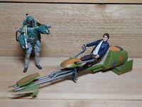 Star Wars Han Solo & Boba Fett Action Figure Lot with Ship Last Jedi 2017