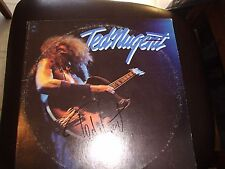 """TED NUGENT SIGNED RECORD """"SELF TITLED"""" TERRIBLE TED! TEN FINGERS OF DOOM! PROOF!"""