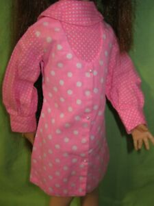 VINTAGE 1970's Kerry CRISSY Doll Size AFTERMARKET Clone PEGGY ANN Polkadot DRESS