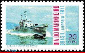1206 BRAZIL 1971 SEAMAN'S DAY, NAVY DAY, GUNBOAT, SHIPS & BOATS, MI# 1300, MNH