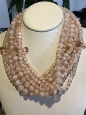TWISTED STATEMENT BEADED NECKLACE BAUBLEBAR PINK