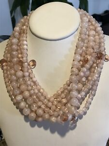 TWISTED STATEMENT BEADED NECKLACE BAUBLEBAR Bubblebeam PINK