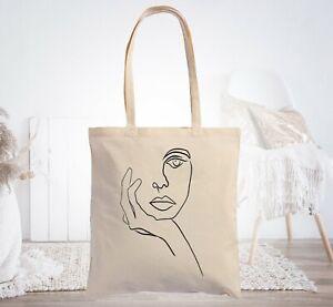 Borsa Shopper Donna Cotone Tote Bag Canvas Shopping di in tela Borse a Tracolla