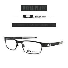 Oakley METAL PLATE OX5038-0153 Matte Black w/ Sat Chr Titanium Eyeglasses Rx-New