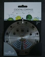 BarCraft Stainless Steel Cocktail Compass Drinks Making Recipe Tool Gadget